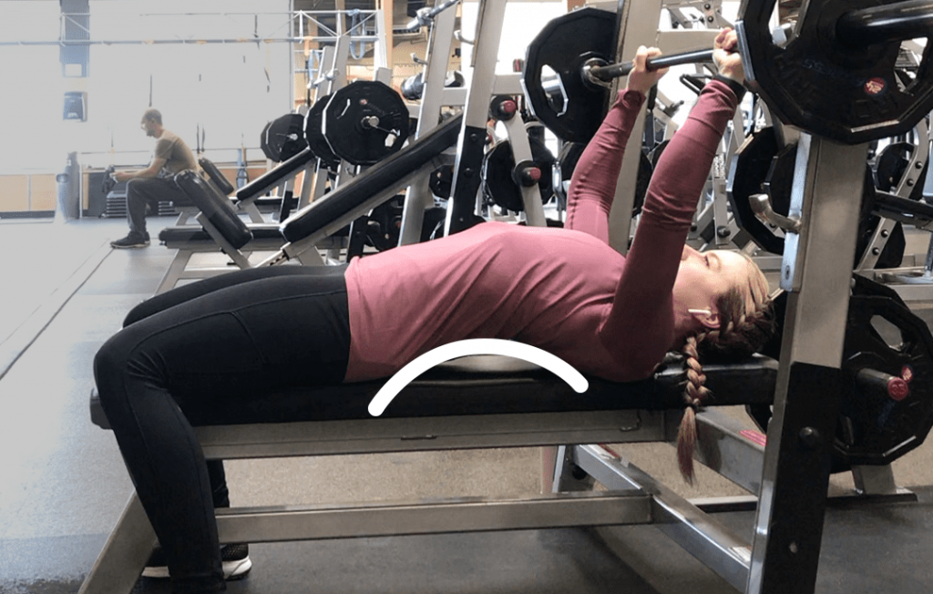 Feminine Bench Press How to do Bench press for women Side Arch Back