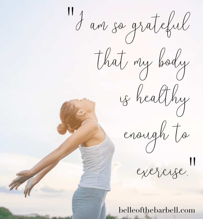 Gym motivational quote: So grateful that my body is healthy enough