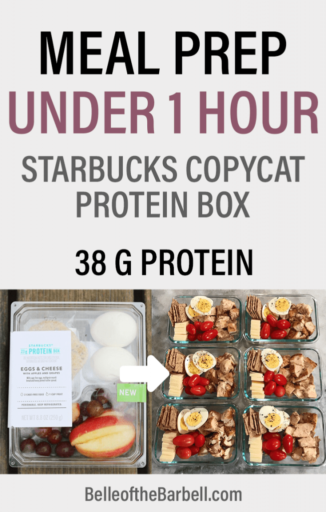 High Protein Starbucks Copycat Box Actual to Meal Prep Pinterest