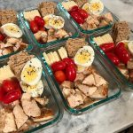 High Protein Starbucks Copycat Meal Prep Protein Box Close Angle