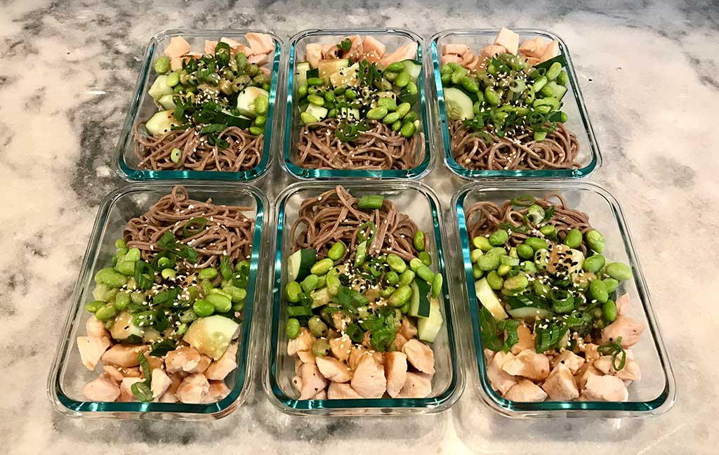 High protein tahini chicken meal prep