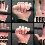 grip bar across fingers and not palm to prevent get rid of weight lifting calluses