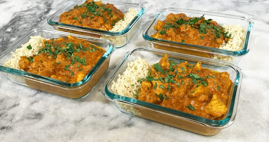 High Protein Butter Chicken Close Up