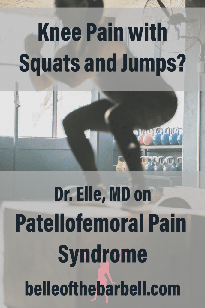 Patellofemoral Pain Syndrome Pinterest Graphic