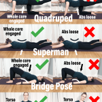 How to fix low back injury Pinterest image showing all different exercises to strengthen core